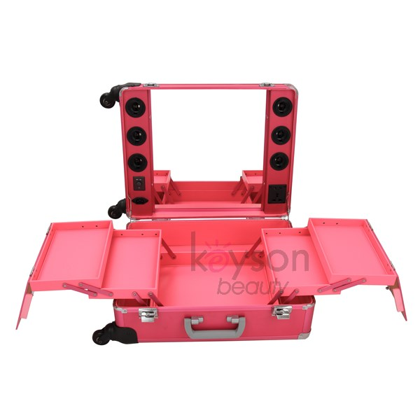 Portable Lighted Makeup Station With